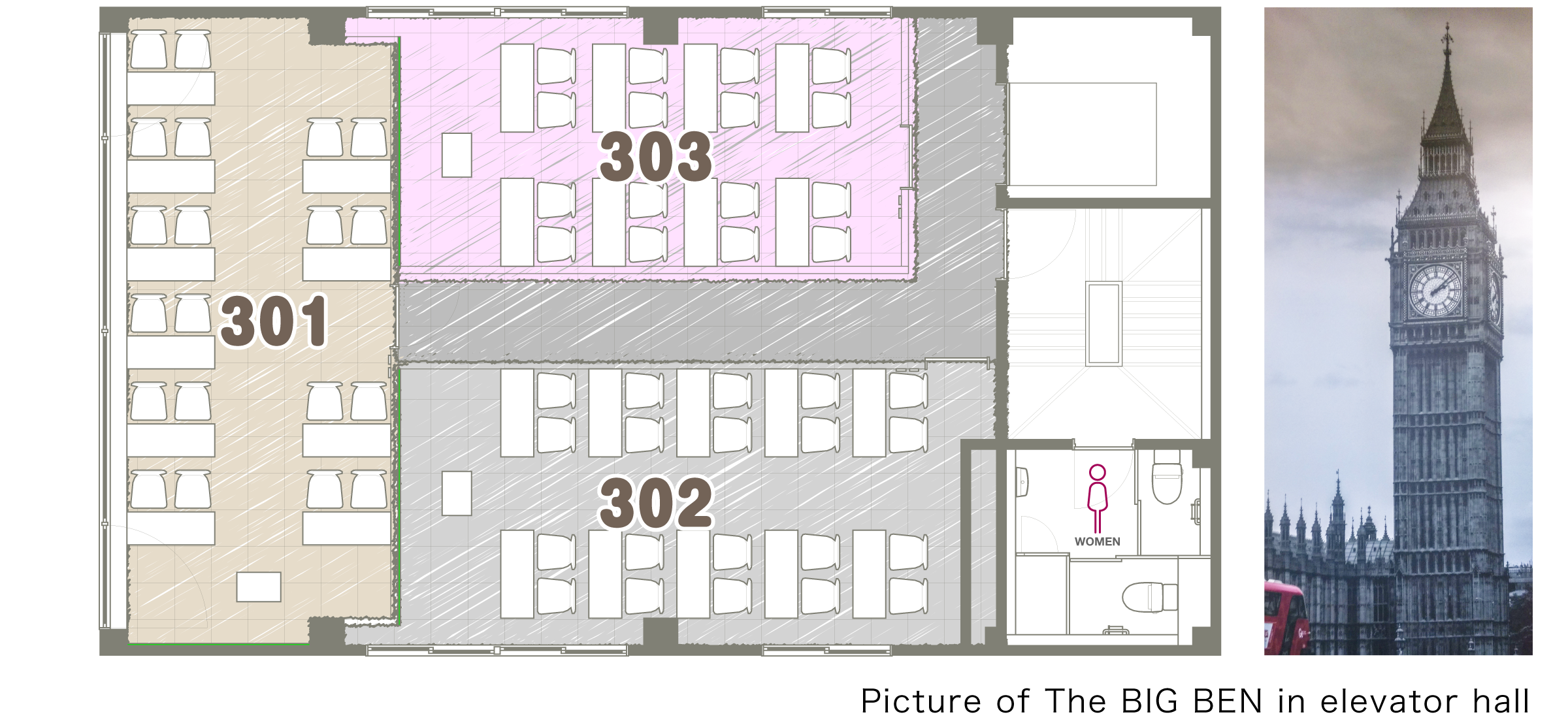 3F Floor map