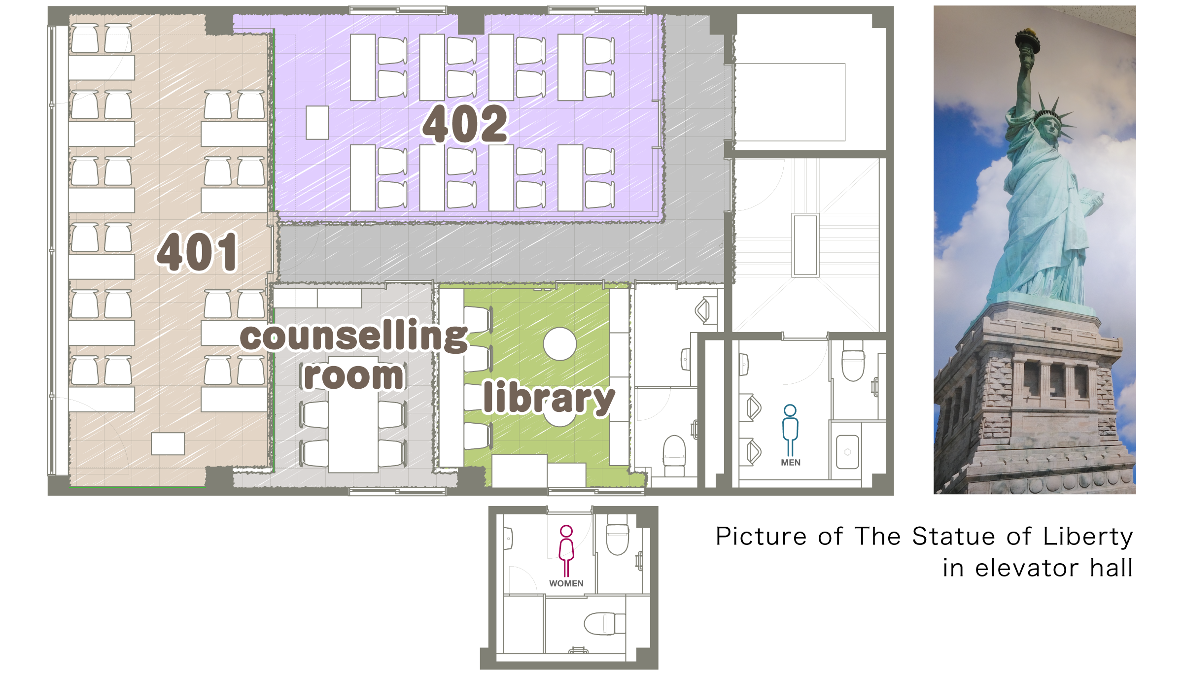 4F Floor map